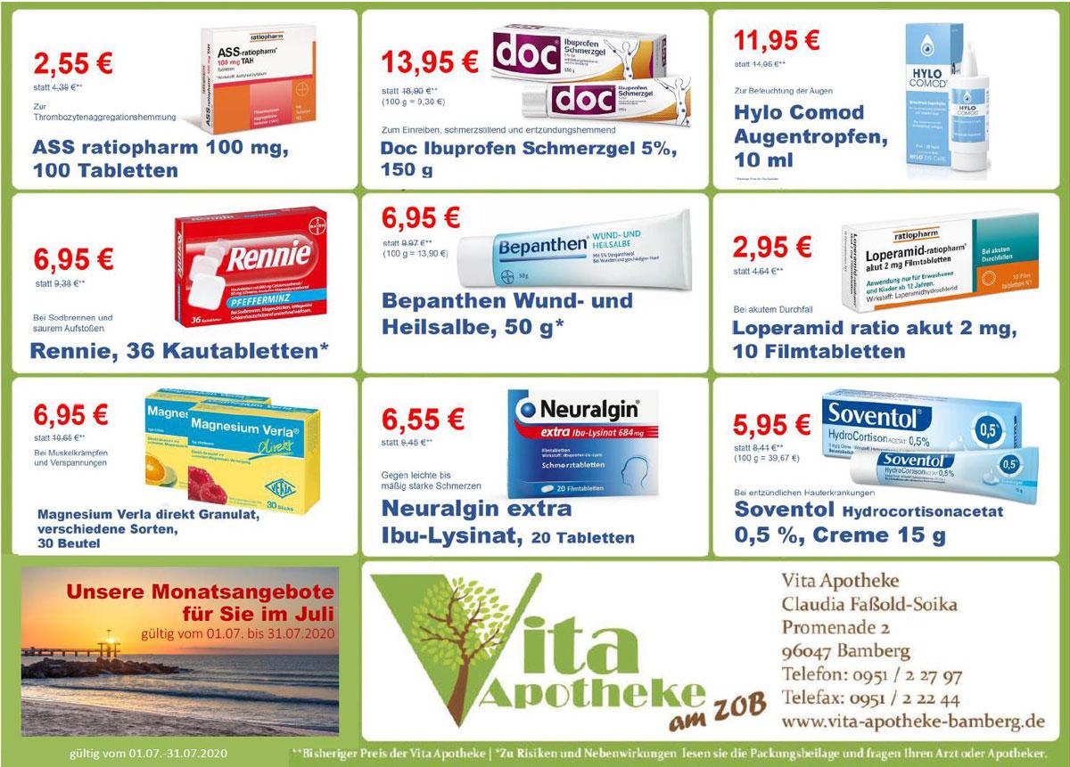 Aktuelle Angebote der Vita Apotheke Bamberg